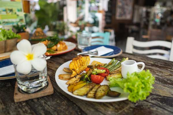 grilled vegetable hua hin